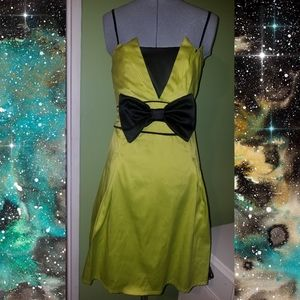 Chartreuse Bow Dress